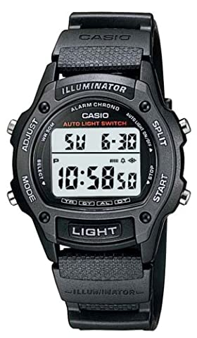 Casio Collection – Herren-Armbanduhr mit Digital-Display und Resin-Armband – W-93H-1AVHEF