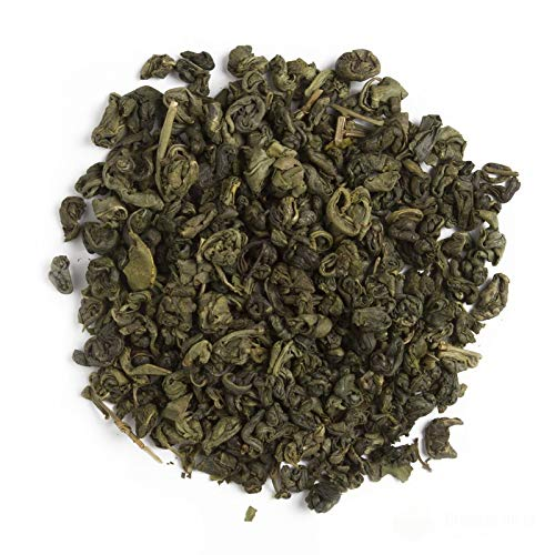 Aromas de Té - Té Verde Moruno China Gunpowder Ecológico Orgánico Sabor a Hierbabuena con Pipermint y Aroma Natural de Menta a Granel, 100 gr.