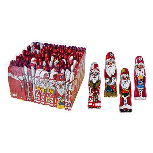 Preisvergleich Produktbild 140er SET Weihnachtsmännchen 7,5 cm, lose 5,5 g / Schokolade / Weihnachten / Weihnachtsmänner