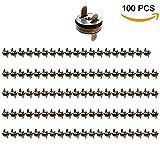 QiGui Magnetknöpfe Magnetschließe Magnetischer Verschluss für Nähen, Basteln Kleidung, Tasche, Sammelalben 14mm 100 Stück (Altmessing)