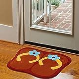 Blueqier Pad per WC Flip-Flop Colorate Tappetini Antiscivolo Tappetini da Bagno Tappetini-Marrone Tappetino da Bagno