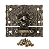 A0127 Boucle de cadenas Boucle Verrouiller Plaque de verrouillage Serrure décorative Patte de boucle 55mmx47mm Vintage antique Quincaillerie d'ameublement