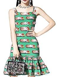 343a622754d Aofur Ladies Girls Summer Autumn Casual Strap Sleeveless Dress Lace Vintage  Party Princess Swing Dress UK