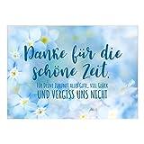 Große XXL Abschiedskarte mit Umschlag/A4/Vergiss uns nicht/Ruhestand/Kündigung/Neuer Job/Rente/Kollege/Kollegin