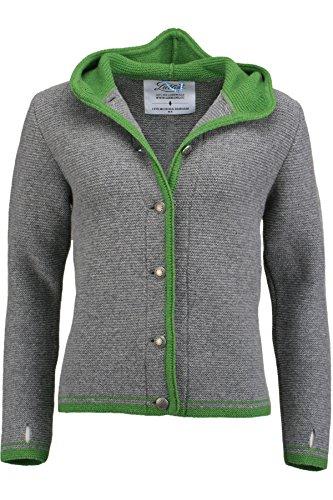 Damen Liebling Liebling Trachtenjanker grau/grün 'Katharina', grau-grün, L
