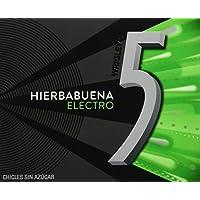 5 - Electro - Chicle sin azúcar con sabor a hierbabuena - 12 láminas - [Pack de 5]