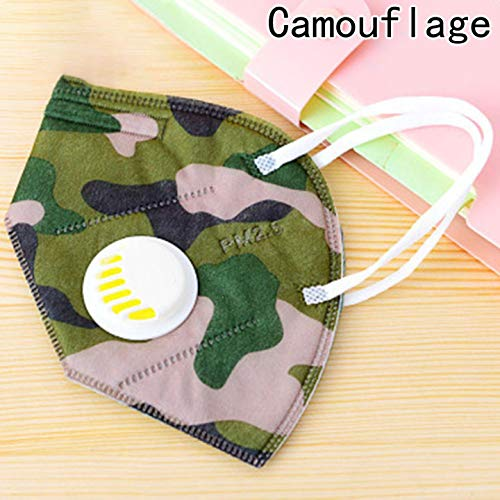 -Verschmutzung Maske Unisex Outdoor Schutz N95 4 Schichten Filter Einsatz Anti Staub Maske mit Ventil Filter für Zuhause Dekoration - Camel. ()
