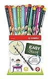 Crayon graphite ergonomique - STABILO EASYgraph - Pot de 36 crayons  HB - 30 droitiers + 6 gauchers