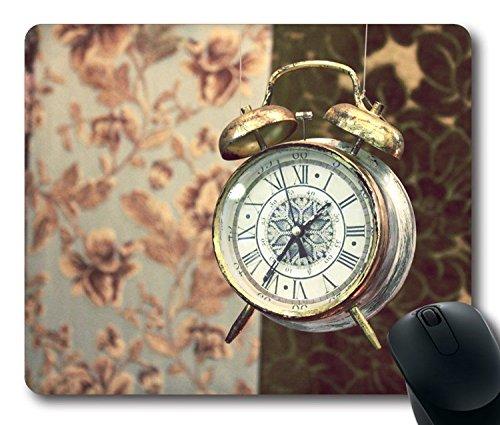 220 Wecker (hohp Vintage Mauspad mit Old Wecker Tapete Neopren Gummi Standard Größe 22,9cm (220mm) X 17,8cm (180mm) X 1/8(3mm))