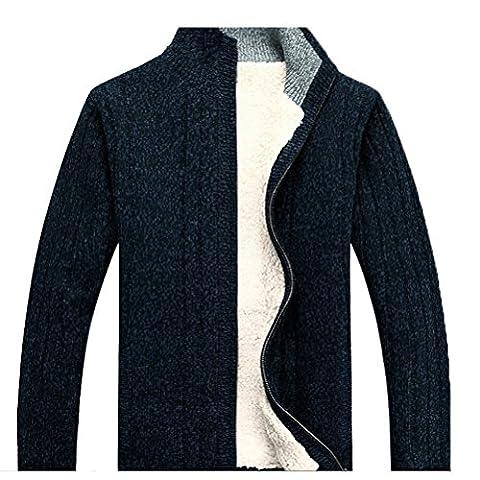 Zhuhaitf Mode Mens Plus Thick Velvet Sweatshirts Outerwear Warm Sweater Coats