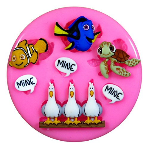 Silikon Form für Kuchen Dekorieren, Kuchen, kleiner Kuchen Toppers, Zuckerglasur Sugarcraft Werkzeug durch Fairie Blessings ()