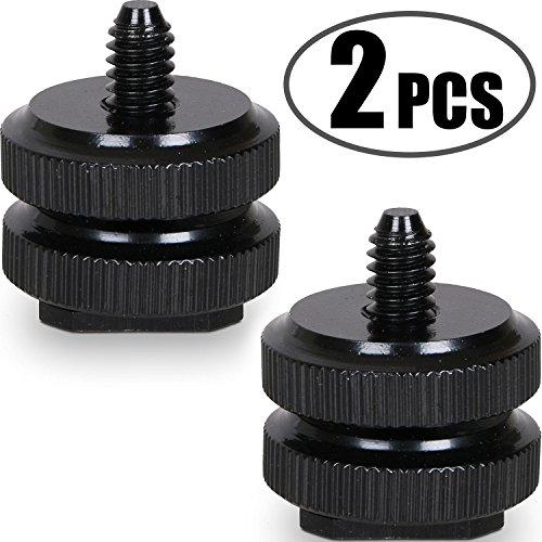 Kamera Blitzschuh auf 1/4'-20 Stativ Schraube Adapter, Blitzschuh Halterung für DSLR Kamera Rig (Hot Shoe-2)