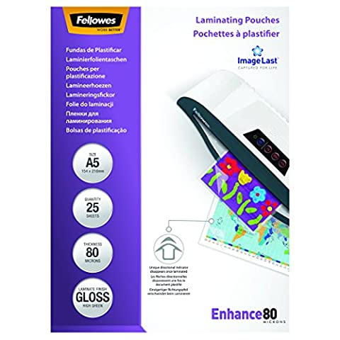 Fellowes ImageLast A5 80 Micron Laminating Pouch - (Pack of 25)