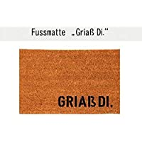 GRIAß DI. Fußmatte Teppich Fußabtreter Kokos 40 x 60 cm Bayern Geschenk Ostern Geburtstag Einzug