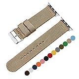 Bande Montre de Pomme en Nylon Rouge 42mm Bracelet NATO Bracelet Bande iWatch pour...