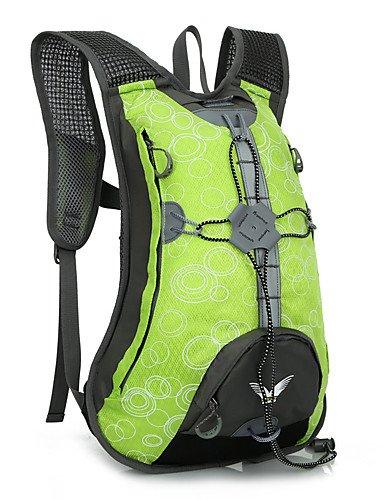ZQ 15 L Tourenrucksäcke/Rucksack / Travel Organizer / Rucksack Camping & Wandern DraußenWasserdicht / Schnell abtrocknend / tragbar / Green