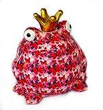 Pomme Pidou Spardose Frosch XL rosa mit Schmetterlingen