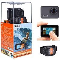 """Rollei Actioncam 550 Touch - WiFi Action Cam mit 2"""" Touchdisplay, 4k Video Auflösung, ultra schnelle 0,5 Sekunden Fotointervallaufnahmen mit 160° Super-Weitwinkel-Objektiv, bis 40 m wasserdicht"""