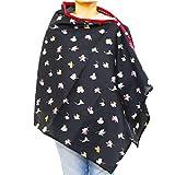 #3: kadambaby - Premium Nursing Cover / Breastfeeding Poncho / 100% Cotton - Flower print. Stylish Nursing poncho / can be used as Stole/Scarf