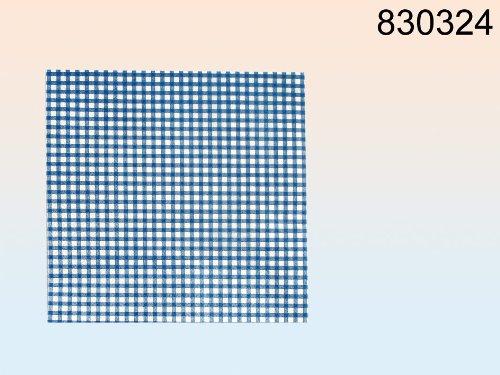 Papier-Servietten blau/weiß kariert (Kariertes Papier Servietten)
