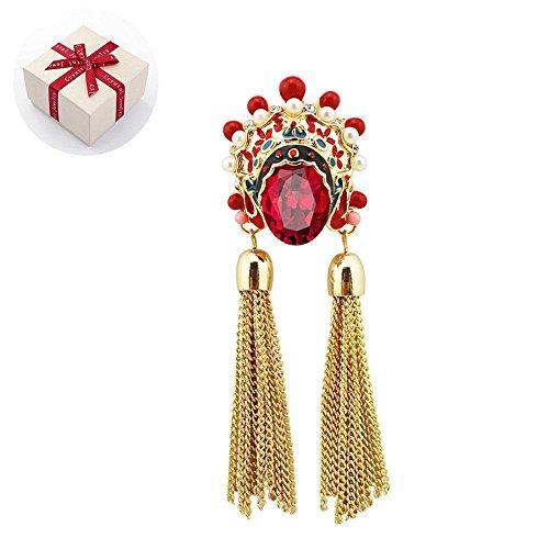 (Brosche Pullover-Kette Halskette Pin Kleidung Dekoration Nettes Chinesischer Neues Jahr StilWeihnachtsgeschenk Damen Schmuck Zubehör Mantel Hemd Deko Geschenk)
