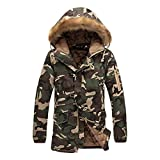 Highdas Camuflaje Parkas Hombre Mujer Militar Abrigos de invierno Chaquetas Verde 5XL