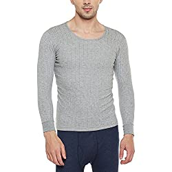 Neva Men Solid Slim Fit Thermal Top Milange grey Coloured XXX-Large