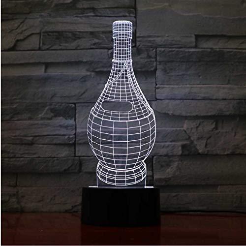 3D Nachtlichter Kinder Schlafzimmer Schlaf Nachttischlampe Leuchte Visuelle 3D Weinflasche Modellierung Nachtlichter Led Schreibtischlampe Decor Kind Geschenke