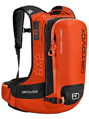 Ortovox Herren Free Rider 22 Avabag Kit Rucksack, Crazy Orange, 55 x 29 x 19 cm, 22 Liter
