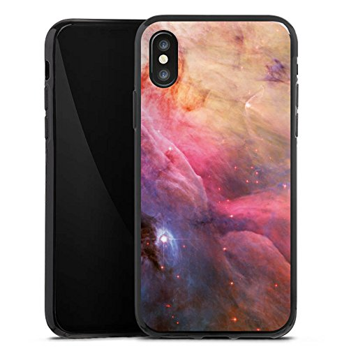 Apple iPhone X Silikon Hülle Case Schutzhülle Galaxy Space LL Ori und der Orion Nebel Silikon Case schwarz