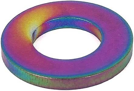 sourcingmap/® 5Stk 12mm Au/ßen Dur M6 Titan Flach Unterlegscheiben DIN125 Befestigung Schrauben DE de