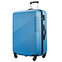 "FLYMAX 24"" Medium Super Lightweight ABS Hard Shell Travel Hold Check in Luggage Suitcase with 4 Wheels Trolley Bag"