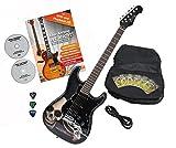 Rocktile Pro ST60-SK Guitare électrique Skull avec accessoires