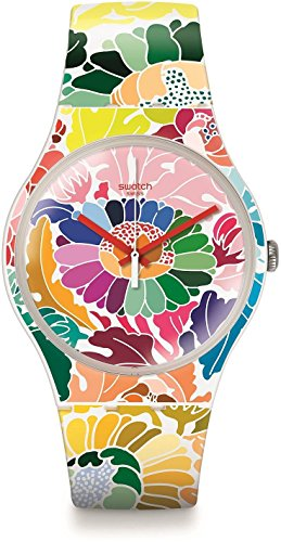 Swatch Reloj de cuarzo Unisex Flowerfool 41 mm