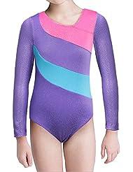 Long Sleeve Gymnastics Leotards for Girls Sparkly Dance Practice Costume