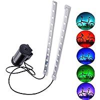 SYCASE Luces para Ruedas de Bicicleta con Pilas Impermeable LED Luz de Radio de Bicicleta 8 Modelo 5 Colores 24 Led MTB Bicicleta