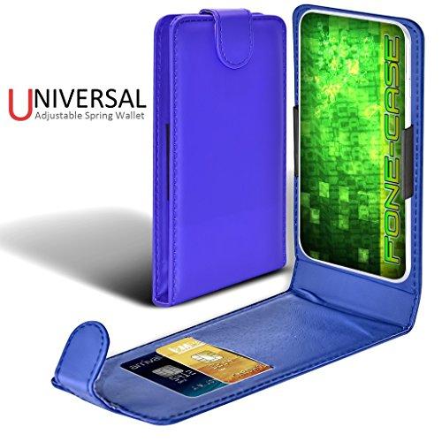 Fone-Case (Red) Apple iPhone 8 Plus Case style Clamp flip protection PU Housse en cuir Blue Universal Clamp Flip