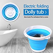 Bi009 Mini Foldable Ultrasonic Turbine Washing Machine, Machine à Laver Pliante Portable, USB Cable, Low Noise