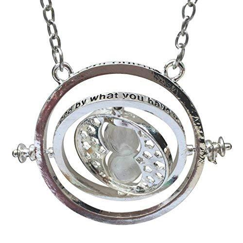 H&H UK Zeitumkehrer-Halskette, Zauberei-Gegenstand, Falcao, Horcrux, Sanduhr-Anhänger, in Samtbeutel - 02 ()