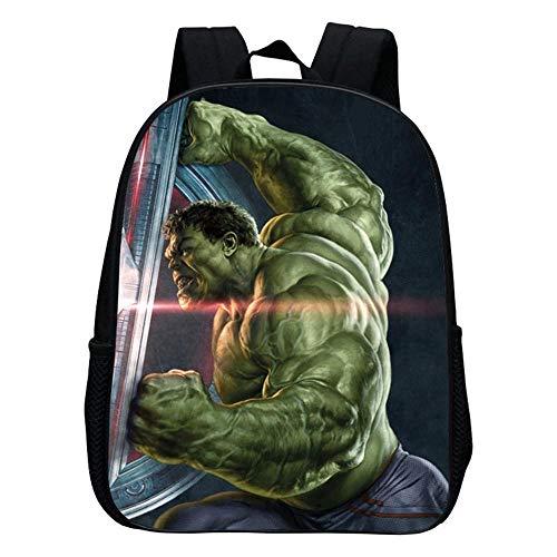 Hulk/Captain America/Iron Man Kindergarten Schule Cartoon Rucksack Geeignet Für 2-6 Jahre - 30 cm * 24 cm * 12 cm (12 Zoll) B-30 * 24 * 12cm ()