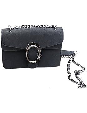 Designer Handtasche in Veloursleder-Optik by Sassyclassy   Elegante Damen -Tasche in Schwarz   Wildleder-Optik...