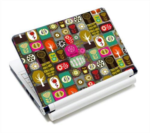 Luxburg® Design Aufkleber Schutzfolie Skin Sticker für Notebook Laptop 10 / 12 / 13 / 14 / 15 Zoll, Motiv: Patchwork