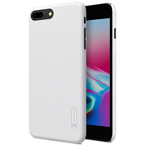 BCIT iPhone 8 Plus Hülle - Premium Qualität Harte Schale Ultra Slim Schutzhülle +1 Film Displayschutzfolie für iPhone 8 Plus - Schwarz Weiß