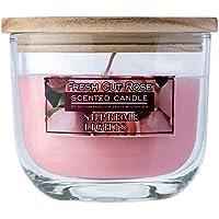 Supreme Lights Duftkerzen im Glas Rosa Windlicht mit Holzdeckel Raumdüfte 70Std 12oz (Pink - 340g) preisvergleich bei billige-tabletten.eu