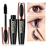 SHOBDW New Long Curling Makeup Wimpern Schwarz Wasserdicht Faser Mascara Wimpern (One Size, Schwarz)