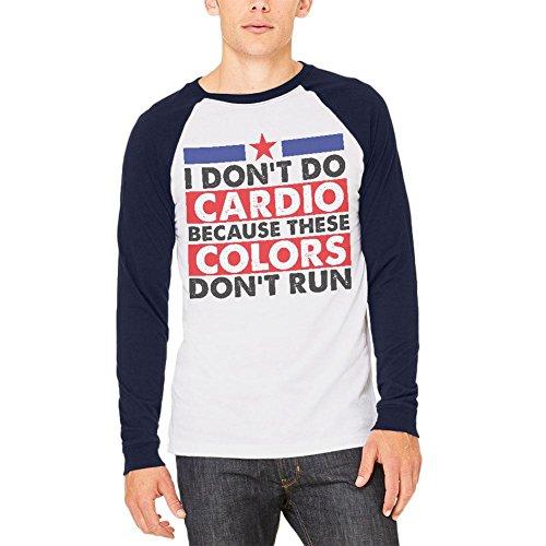 4. Juli ich Cardio Mens Sleeve Raglan-T-Shirt nicht White