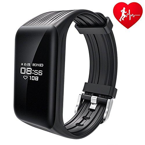 Easycat Fitness-Tracker K1 BT Smart-Armband Echtzeit-Herzfrequenz-Monitor, wasserdicht, IP67, voll OLED-Touchscreen, Smart-Band, Aktivitätstracker für Sport
