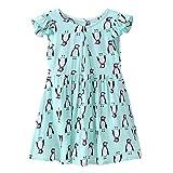 Silveroneuk Vestido - para niña Azul azul celeste 6-7 años
