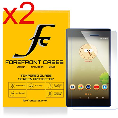 Forefront Cases [HD KLARHEIT] Gehärtetes Glas Display Schutz Protektor Folie für Lenovo TAB3 7 Essential 17,78 cm (7 Zoll IPS) Tablet [Ultra DÜNN nur 0.3mm] (Packung mit 2)
