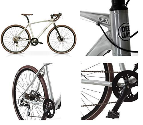 Radio Deejay Bicicletta Bici Gravel Bike by Alluminio con Freni a Disco/Originale Made by
